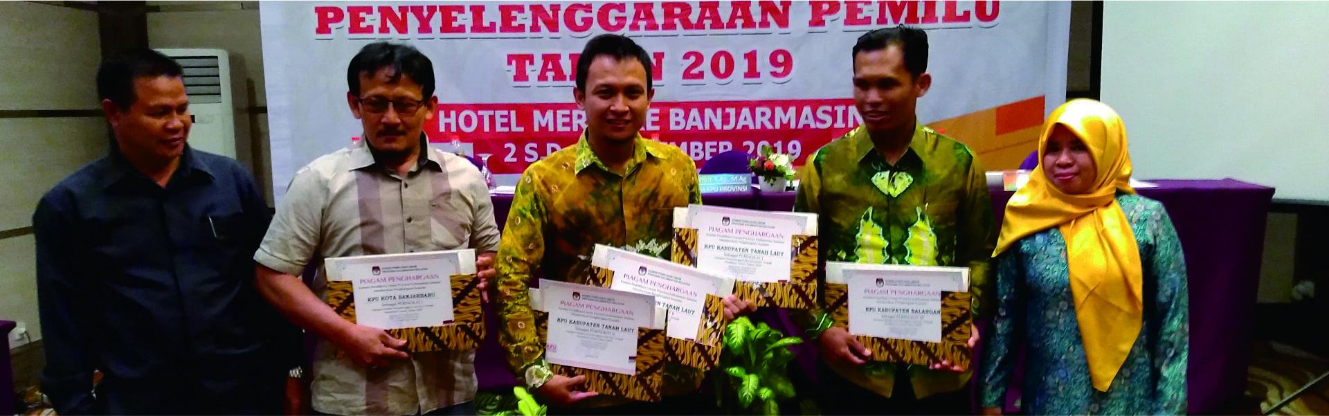 Penerimaan Penghargaan Dari KPU Provinsi Kalimantan Selatan