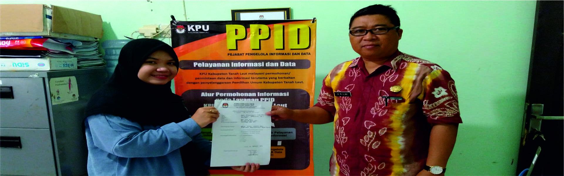 Pelayanan PPID KPU Kabupaten Tanah Laut